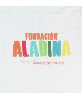 Camiseta frase solidaria Fundación Aladina