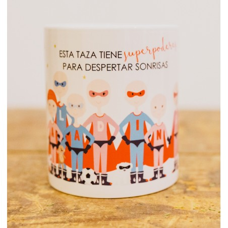 "Taza ""Superhéroes"""