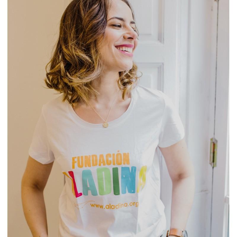 Camiseta mujer solidaria Fundación Aladina