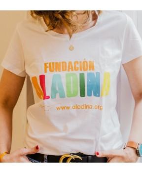 Camiseta mujer solidaria para regalar Fundación Aladina