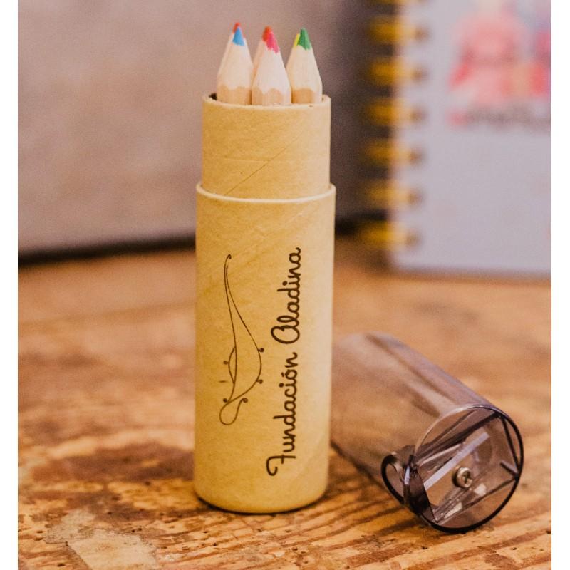 Tubo de lápices regalo solidario Fundación Aladina