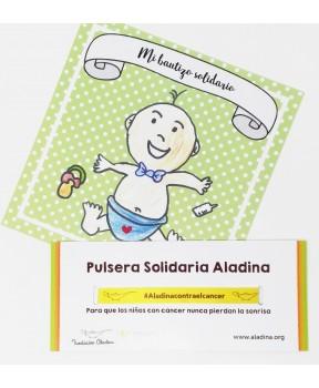 Regalo bautizo solidario niño Fundación aladina