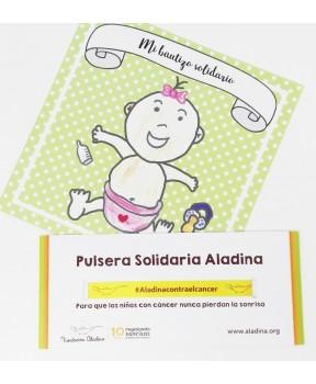 Regalo bautizo solidario niña Fundación Aladina