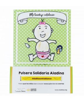 Pack bautizo solidario niña Fundación Aladina