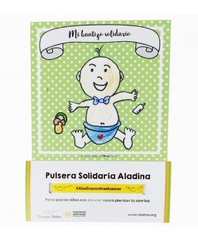 Pulseras Bautizo Nina.Pulseras Solidarias Fundacion Aladina La Tienda De Aladina