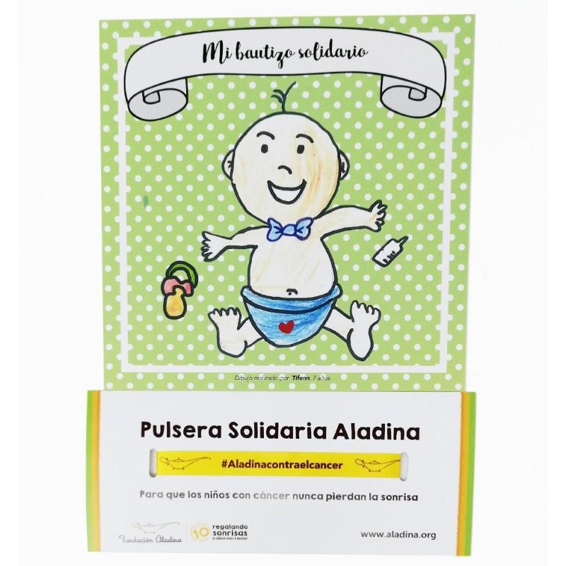 Pack bautizo solidario niño Fundación aladina