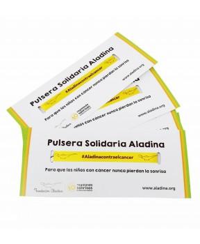 Pulseras solidarias contra el cáncer Fundacion Aladina