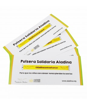 Pulsera solidarias contra el cáncer para regalar Fundación Aladina