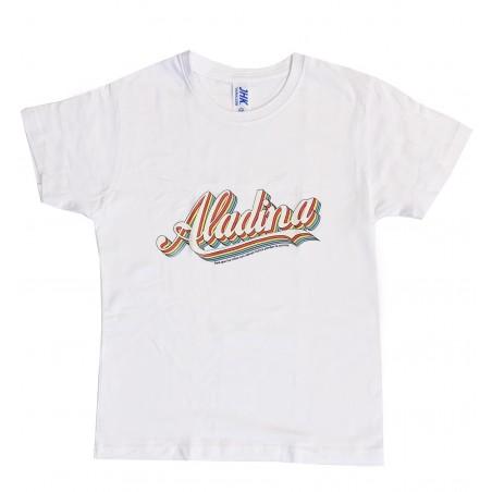Camiseta infantil Aladina blanca