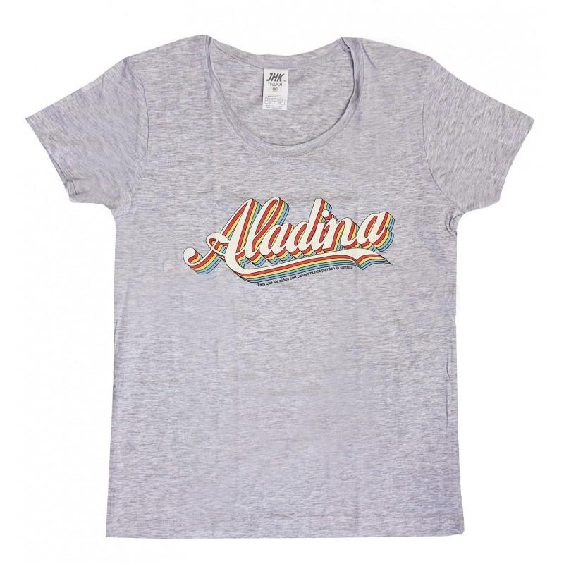 Camiseta vintage solidaria para mujerAladina