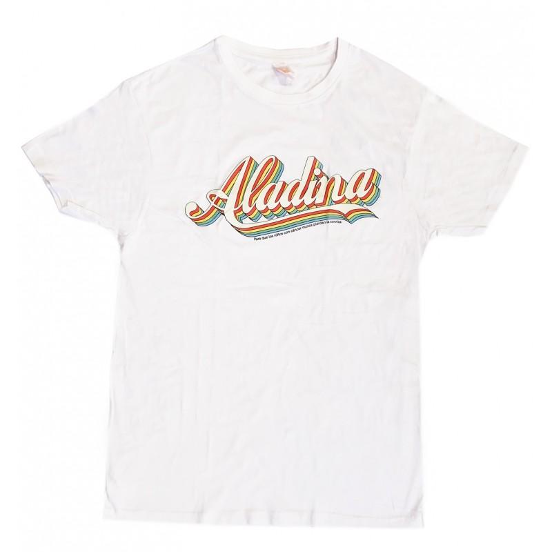 Camiseta vintage blanca solidaria Aladina