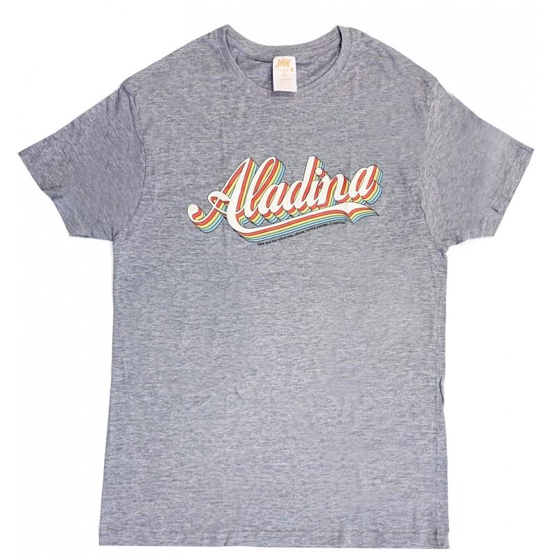 Camiseta vintage para regalar gris Aladina