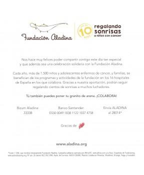 Detalle bautizo solidario niña Fundación Aladina