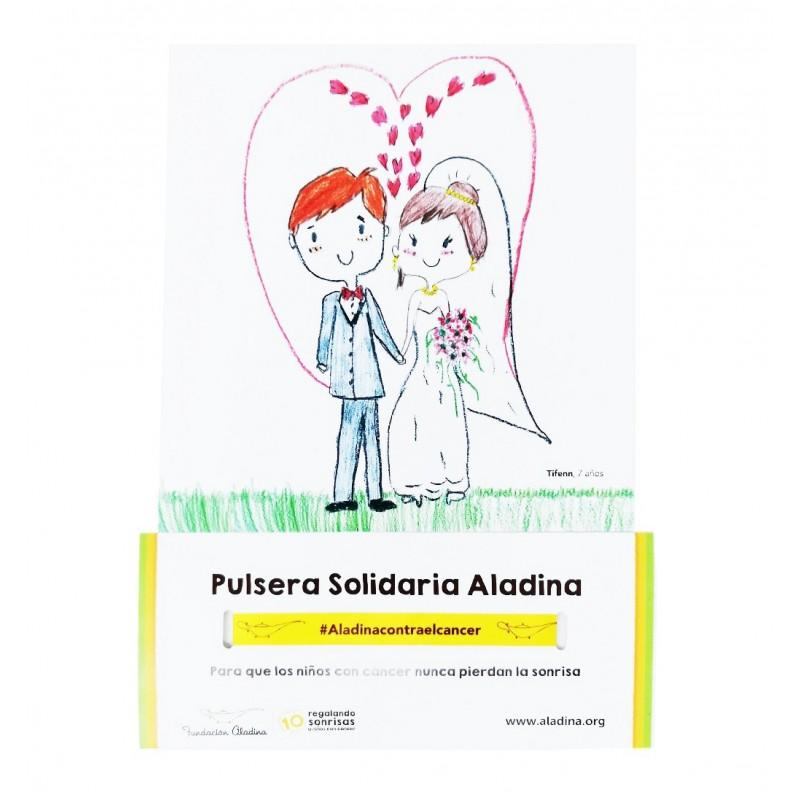 Pack pulseras bodas solidarias Fundación Aladina